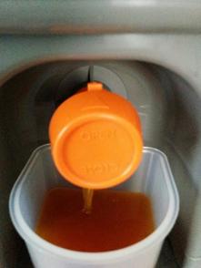Poista liika neste bokashista ämpärin hanan kautta.