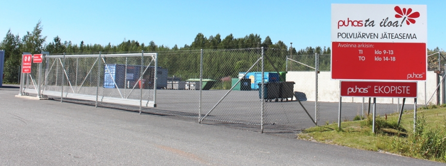 Polvijärven jäteaseman löydät osotteessa Ahertajantie 2.